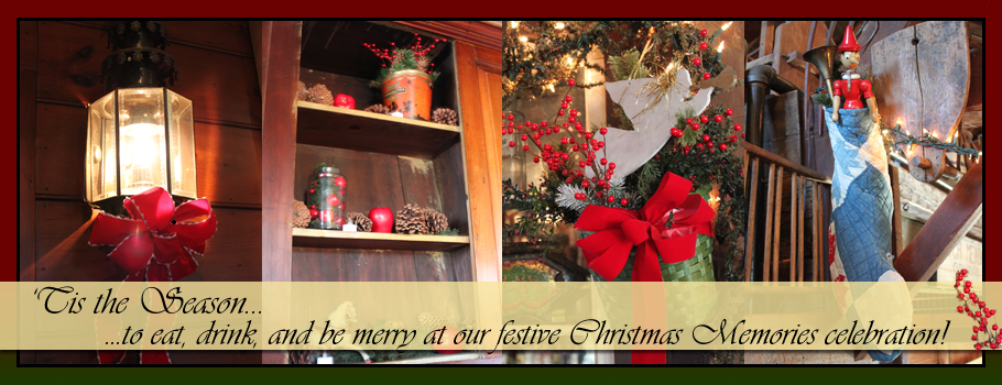 Celebrate Christmas Memories that will last at Salem Cross Inn, West Brookfield, MA