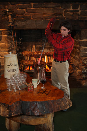 Enjoy our fireplace feast dining event.