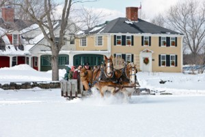 Top off our dining event Fireplace Feast with a sleigh ride!