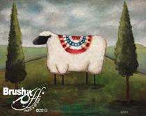 PrimSheep painting for the Salem Cross Inn 'Brush It Off' dining event