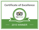 Trip Advisor Certificate of Excellence 2015 -- Salem Cross Inn, West Brookfield, MA!